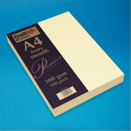 Premium A4 Cards Smooth Finish Ivory (W120)